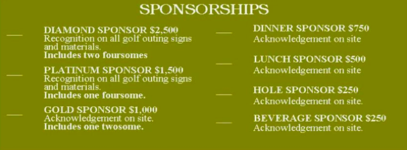 Golf 2016 Sponsorship Levels