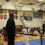 Being honored by Master Simms