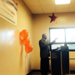 """Representative Riley speaking at the """"I Make A Difference Awards"""" ceremony."""