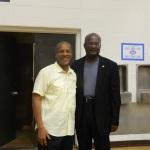 With Mayor Alsberry